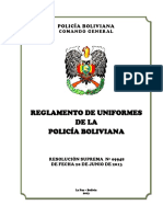 Reglamento de Uniformes (Rs 09948-2013)