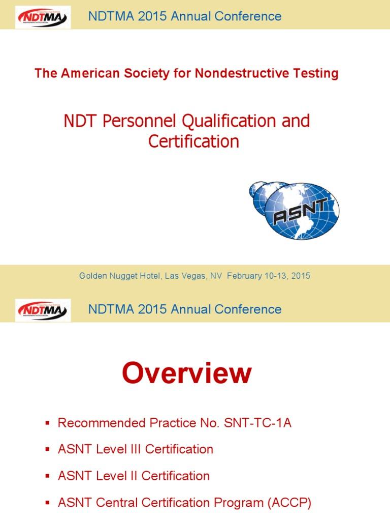 ASNT | Nondestructive Testing | Professional Certification