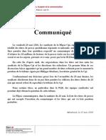 Déclaration Filpac sur l'action PQN PQR 25 mai 2016