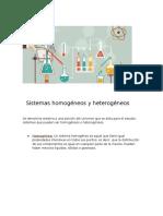 Sistemas Homogéneos y Heterogéneos