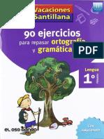 90 Ejercicios Para Repasar Ortografia y Gramatica 1ro Primaria.dd-bOOKS.com