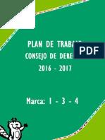 Plan de Trabajo Consejo de Derecho 2016/2017