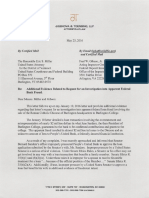 Toensing Letter to U.S. Attorney of Vt., Federal Inspector Gen. Re