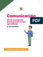 Cuadernillo de Comunicacion. Kit Evaluación. 2sec.