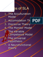 Theories of l2 Learning
