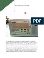 REPARACION DE FUENTE DE ALIMENTACION PC ATX ANTEC.docx