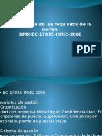 Descripción de Los Requisitos de La Norma