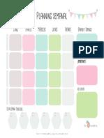 Planning Semanal