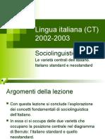 italiano standar