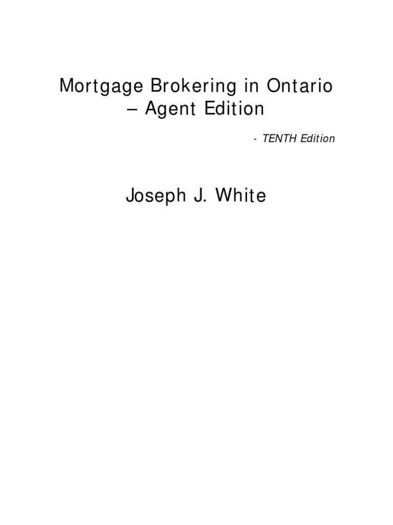 Mortgage brokering in ontario agent edition tenth edition 1 mortgage brokering in ontario agent edition tenth edition 1 mortgage broker mortgage loan fandeluxe Gallery