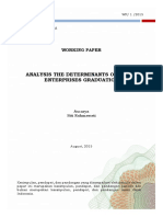 Analysis the Determinants of Micro Enterprises Graduation