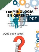 4.1 Terminología en Gerencia
