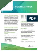 Low Income Transit Pass Edmonton