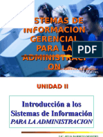 Unidad II El Sistema de Informacion Para La Administracion
