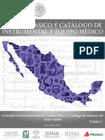 Cuadro Basico y Catalogo de Instrumental Medico Tomo i 2015