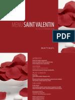 Matyasy Menu Saint Valentin