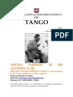 Aproximación Al Discurso Poético Del Tango Afiche
