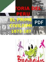 El Primer Civilismos en El Peru