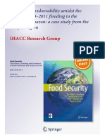 Food system vulnerability amidst the extreme 2010–2011 flooding in the Peruvian Amazon