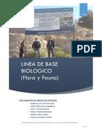 Informe de Linea de Base Biologico - UJCM