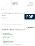AV-06 Advanced Analytics for Predictive Maintenance