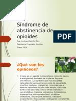 Síndrome de Abstinencia de Opioides