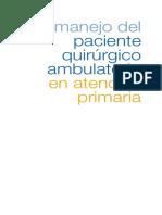 Manejo Del Paciente Quirurgico Ambulatorio