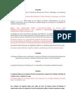 informacion sobre belgica ( Frances- Español)