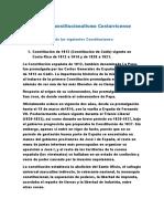 Historia Del Constitucionalismo Costarricense
