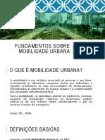 2016 Fundamentos Sobre Mobilidade Urbana