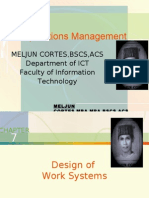 MELJUN CORTES - Operations Management 7th Lecture (JOB DESIGN)