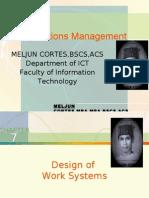MELJUN CORTES - Operations Management 7th Lecture (JOB DESIGN)