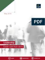 Leadership 2014 Easier Said Than Done