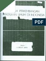 Sejarah Perkembangan Pekerjaan Umum Indonesia
