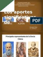 Los Aportes Significativos de Socrates, Platón y Aristoteles.
