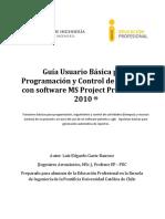Guía Usuario Básica Programación y Control de Proyectos MSPP 2010