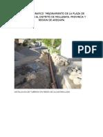 Instalacion de Tuberias en Redes de Agua Potable y Conecciones Domiciliarias