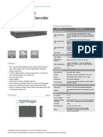 Huawei ESpace DEC6001channel HD Decoder Datasheet