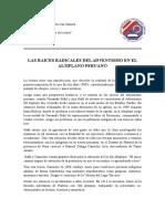 Las Raices Radicales Del Adventismo en El Altiplano Peruano