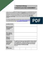 Laboratory Risk Assessment Form