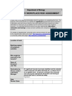 Laboratory Risk Assessment Form