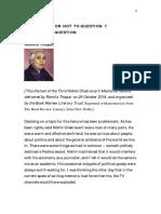 Romila Thapar Nikhil Chak. Lecture