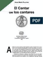 El Cantar de Los Cantares - Anne-marie Pelletier