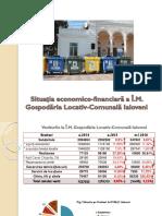 Situația economico-financiară a Î.M. Gospodăria Locativ-Comunală Ialoveni