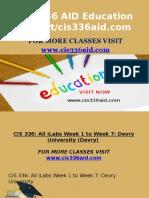 CIS 336 AID Education Expert/cis336aid.com
