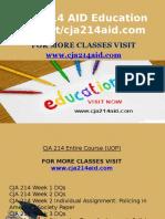 CJA 214 AID Education Expert/cja214aid.com