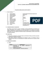SILABO Mecanica de Fluidos I- UCV