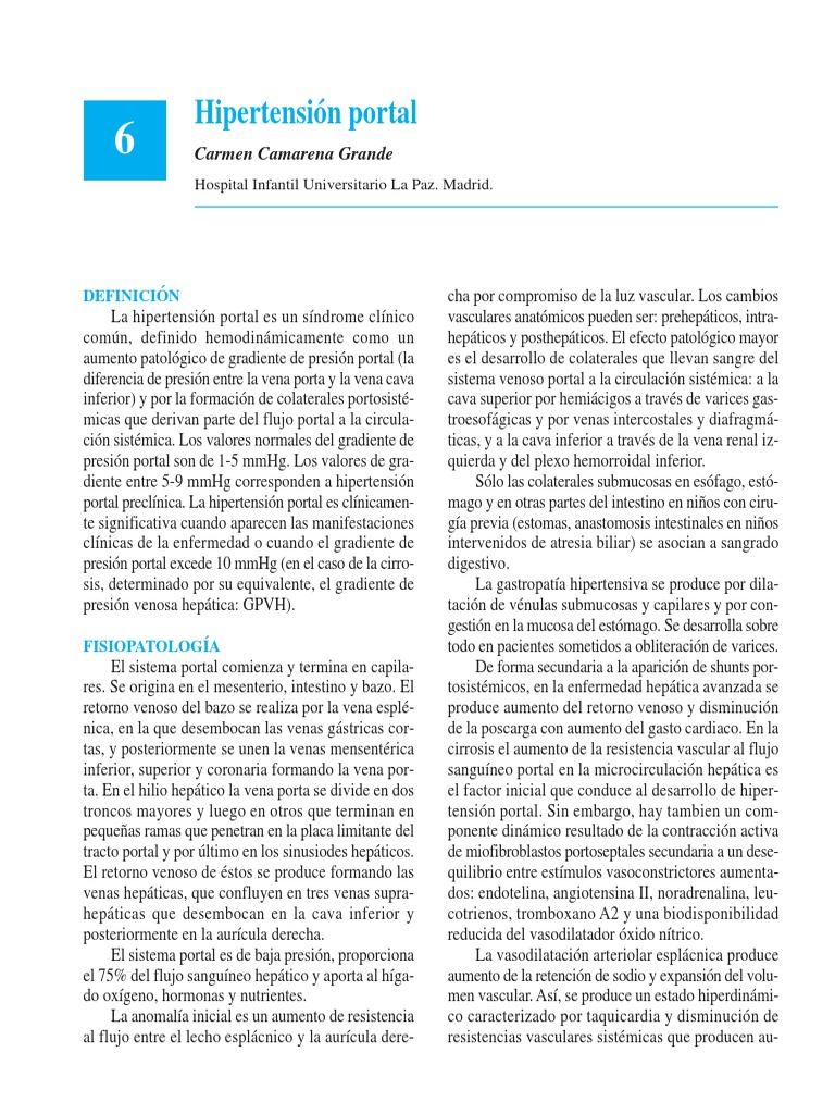 Obstrucción ivc y pronóstico de hipertensión portal