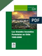 Grandes Incendios Fo0restales en Chile 1995-2009[1]
