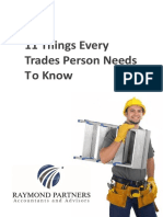11 Things Every Trades Person Needs to Know